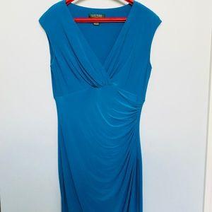 Gorgeous Blue NWOT Ralph Lauren jersey dress